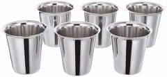 Stainless Steel Glass South Indian Design for Tea and coffee (Pack of 6)