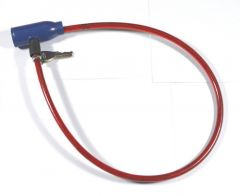 Steel Wire 0.6 Diameter Cable Lock with Keys Bicycle Lock