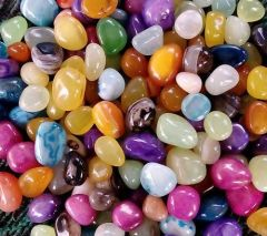 Nain Glossy Stone Pebbles For Garden, Plants, Pots Decoration and Home Decor (Multi-Color)