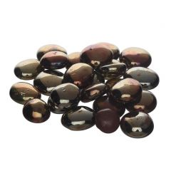 Nain Polished Glossy Decorative Onyx Stone For Garden and Home Decor (Brown)