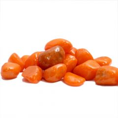 Nain Polished Aquascape and Landscape Decoration Pebble Stones For Home Decor (Orange)
