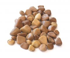 Nain Polished Pebbles For Aquarium, Outdoor and Home Decor (Beige)