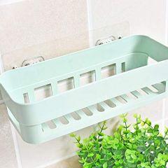 Dhamee's Bathroom Kitchen Storage Shower Corner Caddy Shelf Plastic Plastic Wall Inter Design Bathroom Kitchen Organize Shelf Rack Basket with Sticker Ideal for Kitchen (No Drilling Required)
