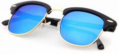 Comfortable Polarized Clubmaster Sunglasses For Men's & Women's (Blue)