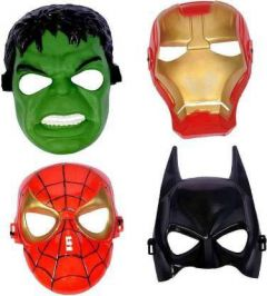 PTCMART Superhero Shape Party Mask For boys and girls Party Mask(Multicolor, Pack of 4)