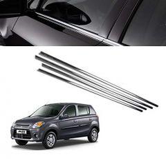 After Cars Maruti Suzuki Alto 800 Car Window Lower Chrome Garnish