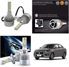 After Cars Maruti Suzuki Swift Dzire 2020 C6 LED HID Light 72w Car Headlight Conversion Kit 8k (White)