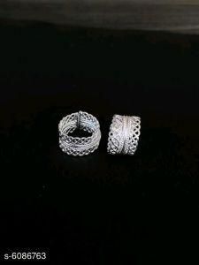 ManshiCreation Silver Toe Ring for Women & Girls (Pack of 1)