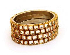 ManshiCreation Brass Material Bangles Set for Women & Girls
