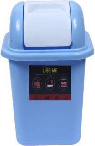 Mayra Plast OFFICE SWING DUSTBIN-104 BLUE Plastic Dustbin (Blue) (Pack OF 1)