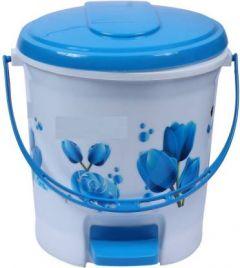 Mayra Plast PADDLE BIN 207 BLUE PRINTED Plastic Dustbin (Blue) (Pack OF 1)