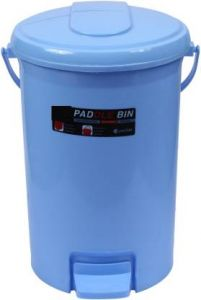 Mayra Plast Paddle Dustbin 207 Plastic Dustbin (Red) (Pack OF 1)