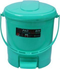 Mayra Plast Plastic Dustbin (Green) (Pack OF 1)