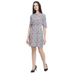 Women's Stylish Printed Short Dress/Top