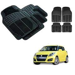 After Cars Black Carpet Floor/Foot 4D Rubber Mats for Maruti Suzuki Swift 2010 Car
