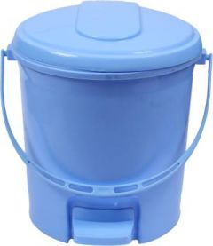 Mayra Plast PADDLE DUSTBIN 207 BLUE Plastic Dustbin (Blue) (Pack OF 1)