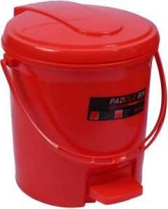 Mayra Plast PADDLE DUSTBIN 207 RED Plastic Dustbin (Red) (Pack OF 1)