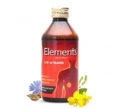 Elements Wellness LIV-A Gain Liquid, Improves Body Metabolism (200 Ml) (Pack of 1)