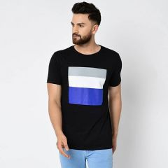 Slim Fit Cotton Printed Short Sleeves Round Neck Ultra Comfy T-Shirt For Men's (Multi-Color) (Pack of 1)