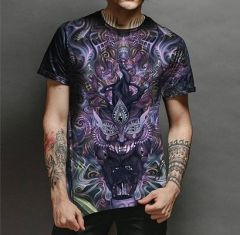 Trendy and Stylish Polyester Graphic-PrintHalf Sleeve Casual T-Shirt For Men's (Multi-Color) (Pack of 1)