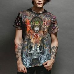 Trendy and Stylish Polyester Graphic Printed Casual T-Shirt For Men's (Multi-Color) (Pack of 1)