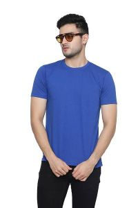 Stylish Solid Cotton Blend Round Neck Casual T-Shirt For Men's (Pack of 1)