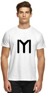 Stylish and Fashionable Printed Half Sleeve Casual T-Shirt For Men(White)