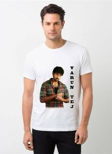 Cool and Stylish Varun Tej Photo Printed Casual T-Shirt For Men's (White) (Pack of 1)