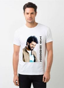 Cool and Stylish Vijay DevarakondaPhoto Printed Casual T-Shirt For Men's (White) (Pack of 1)
