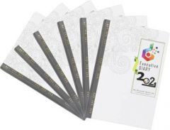 Toss 2021 A6 Diary Rued 165 Pages For Travaling (White) (Pack of 6)