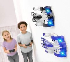 Gravity Defying RC Car Wall Climbing Remote Control Anti Ceiling Racing Toy, Dual Mode 360 Rotating LED Head RC Stunt Car | Wall Car For Kids