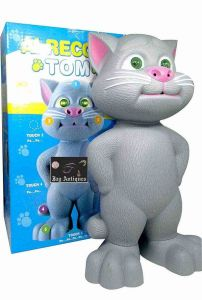 Touch Sensitive Flashing Eyes Record And Play Talking Tom Toy (Pack Of 1)