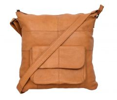 Celtic Cow Natural Dry Milled Leather Satchel Bag (Tan) | Pack of 1