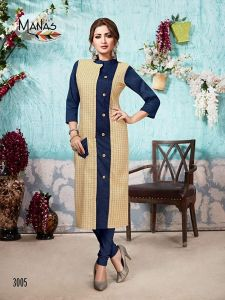 Sunsim FashionComfortable And Regular Fit Rayon Solid 3/4th Sleeve Casual Kurtis For Women's