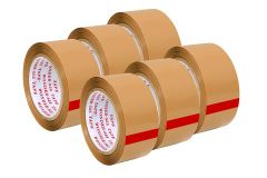 Vagmi Brown Bopp Strong Heavy-Duty Industrial Shipping Packaging for Moving Office and Storage Packing Tape 2 Inch X 65 Meters Long (Pack of 6)