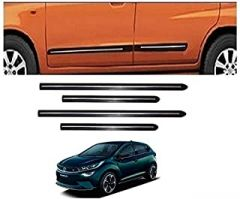 After Cars Tata Altroz Car Black Side Beading with Chrome Line Set of 4