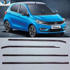 Speed 99~RPM Chrome Stainless Steel Lower Window Garnish Compatible with Tata Tiago Complete Set Of 4 Pcs Exterior Accessories