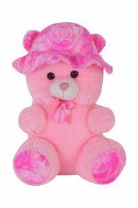 Stuffed Spongy Hugabble Soft Cute Cap Teddy Bear - 55 Cm (Pack Of 1)