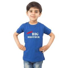 kids Big Brother Printed T-shirts for Regular Wear, Parties & Gifting Purpose (Color-Blue)