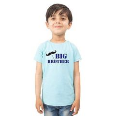 Casual & Stylish Regular Wear Big Brother Printed T-shirts for kids (Color-Light Blue)