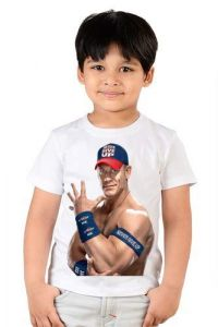 Customize Personalized JOHN CENA Design Printed T-shirts for kids, Children (Color-White)