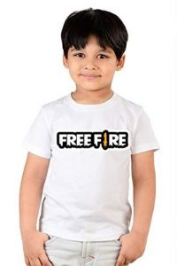 Casual & Stylish Regular Wear Freefire Printed T-shirts for kids (Color-White)