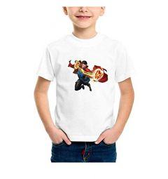 Regular Fit Superheroes Design Avengers Printed t-Shirt for Kids (Color-White)