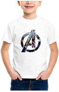 Avengers Design Infinity Printed Regular Wear T-Shirt for Kids (Color-White)