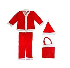 Christmas Party Wear Classic Fit Santa Claus Costume Christmas Dress for Kids Boys (Color-Red)