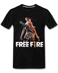 Casual & Stylish FREE-FIRE 3.0 B Printed Regular Fit T-Shirts for kids (Color-Black)