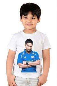 Half Sleeves Sachin Tendulkar Printed Regular Wear, Round Neck, T-shirts for kids (Color-White)