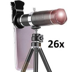 DSLR Blur Background Effect Mobile Telescope Lens kit 26X 4K HD Optical Zoom For All Mobile Camera Includes Macro Lens and Wide Angle Effect Lens