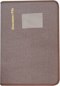 Toss Faux Leather File Folder (Brown) (Pack Of 1)