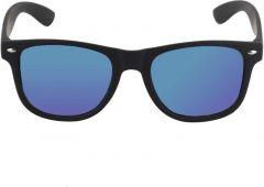 Stylish Mirrored, UV Protection Wayfarer Sunglasses For Unisex (Blue) (Pack Of 1)